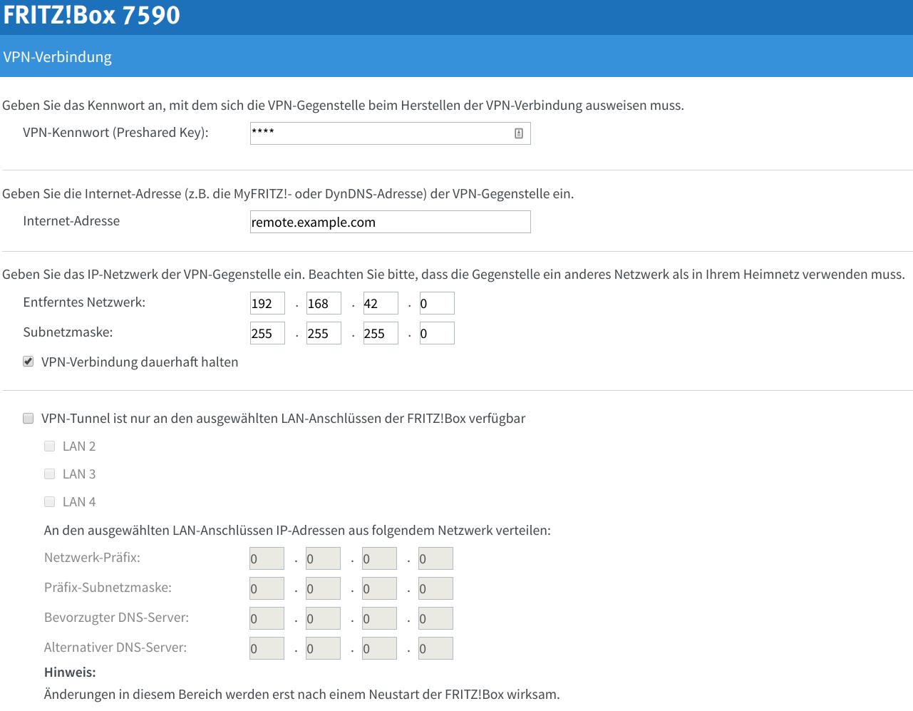 FritzBox LAN 2 LAN VPN with pfSense - Matthias Lohr